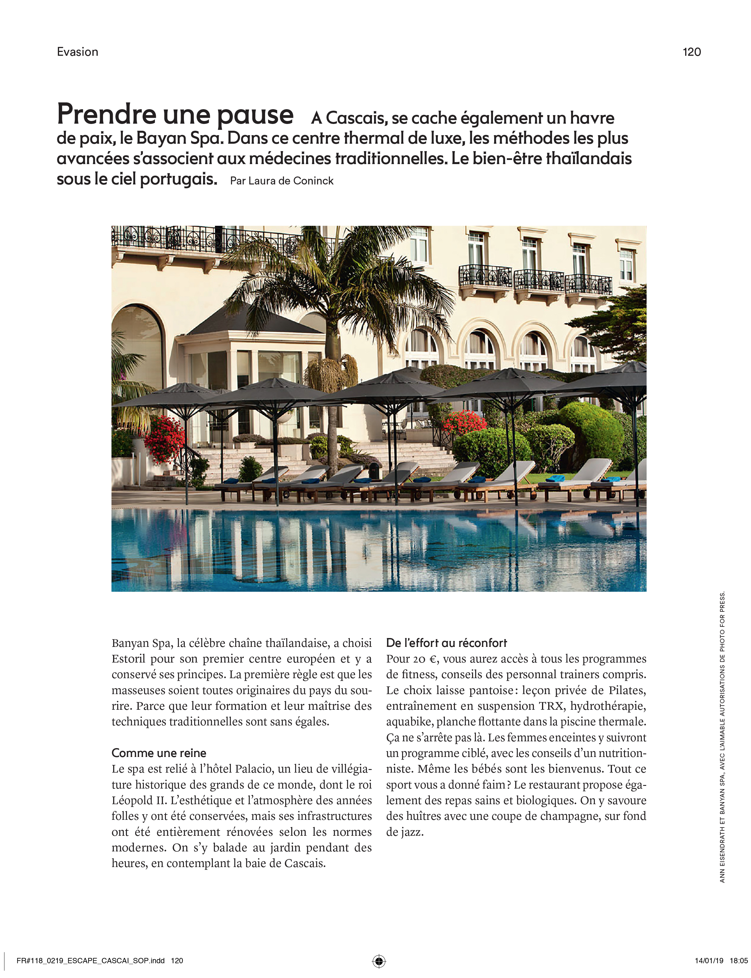 Marie Claire Banyan Tree Spa Estoril