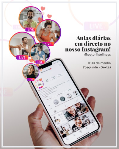 Live Video Workouts Instagram Estoril Wellness Center