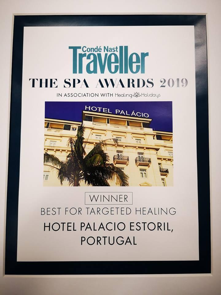 Hotel Palácio Estoril Condé Nast Award 2019 Certificate